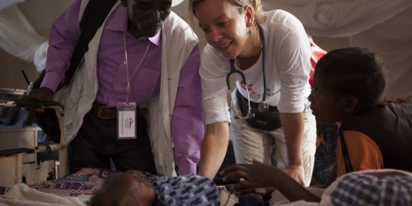 Then: Josine at work for MSF in the Democratic Republic of Congo (photo: Brandon Bannon)