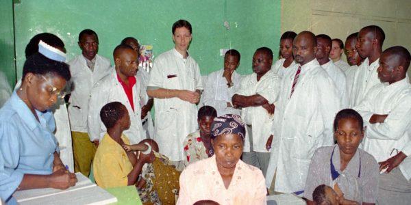 Photo 1: Ward round in Tanzania